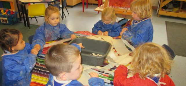 Paper Making in Nursery
