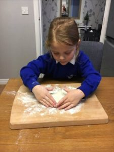 Chloe Home made play dough