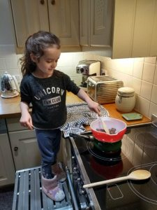 Eleanore melting chocolate for rocky roads