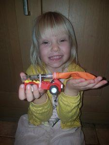 Molly balloon powered car
