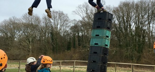 Residential Trip Day 4 crate stacking