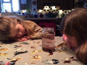 Isla and Honor Fireworks in Jar
